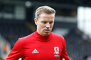 u8yt5re32`zxMiddlesbrough midfielder Grant Leadbitter (7) during the EFL Sky Bet Championship match between Fulham and Middlesbrough at Craven Cottage, London, England on 23 September 2017. Photo by Andy Walter.