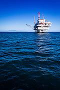Offshore oil platform in the Santa Barbara Channel, Ventura, California USA