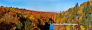 64776-011.06 Fall Color Dead River Marquette county in the Upper Peninsula, MI