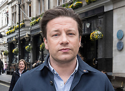 © Licensed to London News Pictures. 01/05/2018. London, UK. Celebrity chef Jamie Oliver arrives at Portcullis House to give evidence to Health and Social Care Committee on child obesity. Photo credit: Peter Macdiarmid/LNP