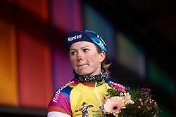 Lotta Lepistö (FIN) retains her lead in the General Classification at Healthy Ageing Tour 2019 - Stage 3, a 124 km road race starting and finishing in Musselkanaal, Netherlands on April 12, 2019. Photo by Sean Robinson/velofocus.com