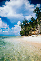 Ritidian beach in northern Guam.