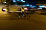 Fietsers in Phnom Penh