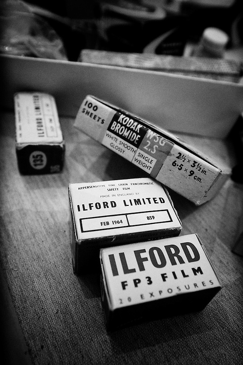 We found this box of photo supplies in the fota house in cork county ireland i used nik silver efex to try to recreate the look of the vintage ilford