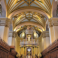 Main Altar of Lima Cathedral of Lima, Peru<br />