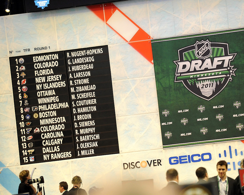 The 2011 NHL Entry Draft in St. Paul, MN on Friday June 24. Photo by Aaron Bell/CHL Images