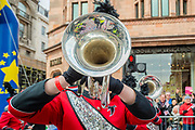 The Robert E Fitch High School Falcon  Marching Band - The New Years Day parade passes through central London.