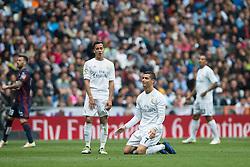 09.04.2016, Estadio Santiago Bernabeu, Madrid, ESP, Primera Division, Real Madrid vs SD Eibar, 32. Runde, im Bild Real Madrid's Cristiano Ronaldo // during the Spanish Primera Division 32th round match between Real Madrid and SD Eibar at the Estadio Santiago Bernabeu in Madrid, Spain on 2016/04/09. EXPA Pictures © 2016, PhotoCredit: EXPA/ Alterphotos/ Borja B.Hojas<br /> <br /> *****ATTENTION - OUT of ESP, SUI*****