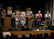 The Mountain Home Music Show in Blowing Rock NC paid Tribute to Doc Watson with songs and shared stories of Doc Watson experiences by Joe Shannon, Steve Lewis, Willard Gayheart and Scott Freeman. Also on stage is Dana and Susan Robinson Rural Roots the schudled program stage 2012-06-02