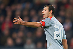 EINDHOVEN, THE NETHERLANDS - Tuesday, December 9, 2008: Liverpool's captain Javier Mascherano in action against PSV Eindhoven during the final UEFA Champions League Group D match at the Philips Stadium. (Photo by David Rawcliffe/Propaganda)