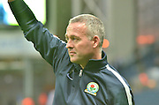 Blackburn Rovers Manager, Paul Lambert welcomes the fans in his first home gamed since appointment during the Sky Bet Championship match between Blackburn Rovers and Sheffield Wednesday at Ewood Park, Blackburn, England on 28 November 2015. Photo by Mark Pollitt.
