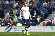Preson Striker Joe Garner during the Sky Bet Championship match between Preston North End and Leeds United at Deepdale, Preston, England on 7 May 2016. Photo by Pete Burns.