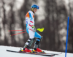 22.02.2014, Rosa Khutor Alpine Resort, Krasnaya Polyana, RUS, Sochi, 2014, Slalom, Herren, 1. Durchgang, im Bild Benjamin Raich (AUT) // Benjamin Raich of Austria in action during the 1st run of mens Slalom to the Olympic Winter Games Sochi 2014 at the Rosa Khutor Alpine Resort, Krasnaya Polyana, Russia on 2014/02/22. EXPA Pictures © 2014, PhotoCredit: EXPA/ Johann Groder
