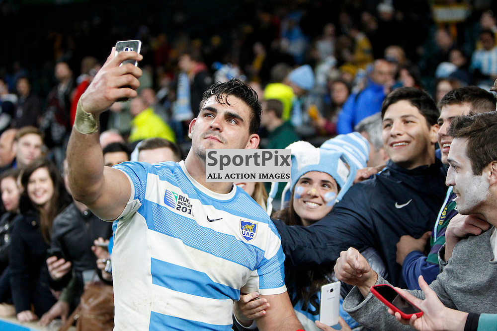 TWICKENHAM, ENGLAND - OCTOBER 25: Pablo Matera of Argentina after the 2015 Rugby World Cup semi-final two match between Argentina and Australia at Twickenham Stadium, London on October 25, 2015 in London, England. (Credit: SAM TODD | SportPix.org.uk)