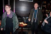 JO BRAND; ALAN AYCKBOURN, Absent Friends - press night  afterparty. Mint Leaf. Haymarket. London. Thursday 9 February 2012