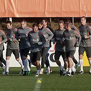 NLD/Katwijk/20110321 - Training Nederlandse Elftal Hongarije - NLD, warming up,