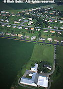Lancaster Co. aerial photographs, suburban housing and farm, Aerial Photograph Pennsylvania