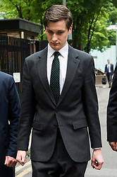 © Licensed to London News Pictures. 28/04/2017. London, UK. Conservative party aide SAMUEL ARMSTRONG appears at Southwark Crown Court on two alleged charges of rape. The alleged attack is said to have taken place in the Houses of Parliament Friday 14th October 2017.  Armstrong was working as an aide to South Thanet MP Criag Mackinlay.<br /> <br /> <br /> Photo credit: Ray Tang/LNP