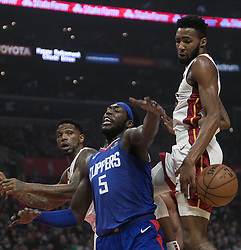 December 8, 2018 - Los Angeles, California, U.S - Montrezl Harrell #5 of the Los Angeles Clippers loses the ball during their NBA game with the Miami Heat on Saturday December 8, 2018 at the Staples Center in Los Angeles, California. At half, Clippers 62 vs Heat 65. (Credit Image: © Prensa Internacional via ZUMA Wire)