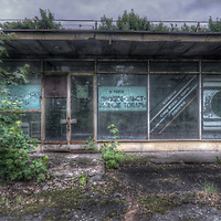 An abandoned Soviet sports hospital in East Germany, Grocery shop.
