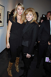 Left to right, ASSIA WEBSTER and KELLY HOPPEN at a private view of 'Something for Everyone' an exhibition of work by various photographers at Hamiltons Gallery, London on 18th March 2008.<br />
