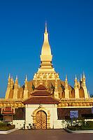Laos, ville de Vientiane, stupa Pha That Luang // Laos, Vientiane city, Pha That Luang stupa