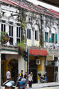 Malaysia, Kuala Lumpur. Traditional houses.