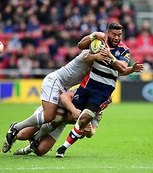 Siale Piutau of Bristol Rugby evades the challeng of  Ben Tapuai of Bath Rugby  - Mandatory by-line: Joe Meredith/JMP - 26/02/2017 - RUGBY - Ashton Gate - Bristol, England - Bristol Rugby v Bath Rugby - Aviva Premiership