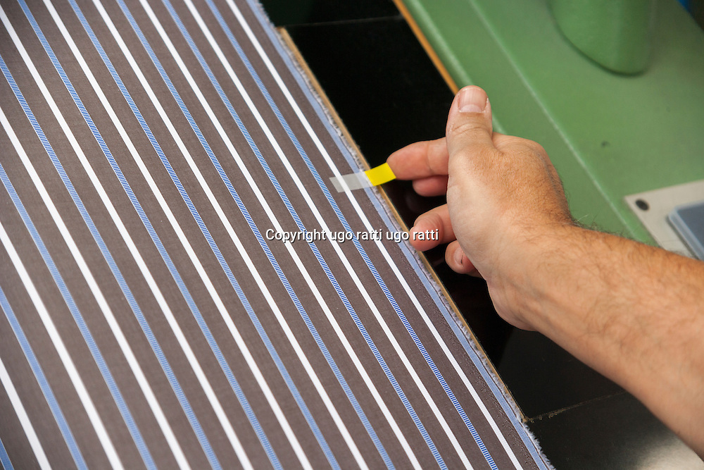 Italy, textile industry, manual quality control in weaving