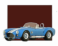 Celebrated for its unique design and formidable power, the Ford Cobra was a great vehicle for anyone who was ever serious about conquering the open road. The design is brilliantly recreated in this digital painting. You can add a piece such as this to virtually any space you can imagine. .<br />