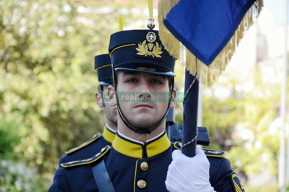 November 21, 2018 - Athens, Greece - Contingent of Honor of Greek Armed Forces seen outside the Cathedral of Athens during the Anniversary Day of Greek Armed Forces. (Credit Image: © Giorgos Zachos/SOPA Images via ZUMA Wire)