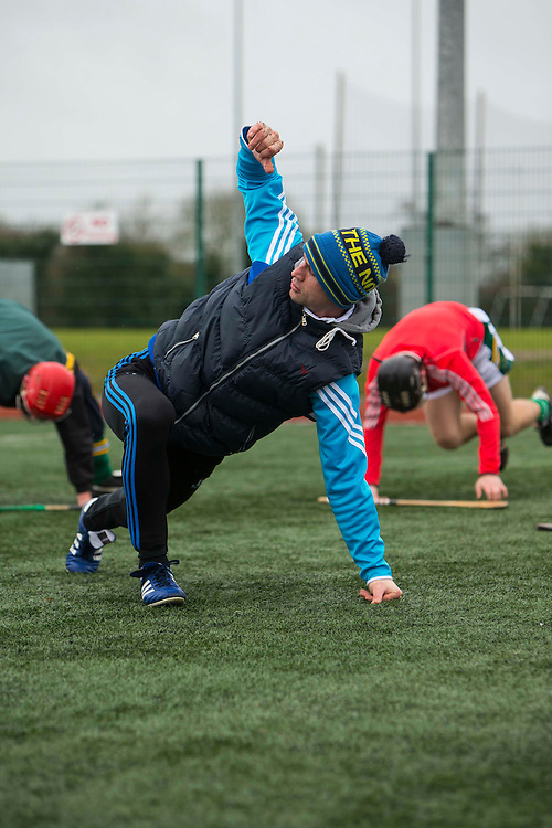 Hurling Coaching Conference at Meath Centre of Excellence, Dunganny, 20th February 2016<br /> Coach, Tommy Dunne (Tipperary) putting players through their paces at the Hurling Coaching Conference at Meath Centre of Excellence, Dunganny<br /> Photo: David Mullen /www.cyberimages.net / 2016