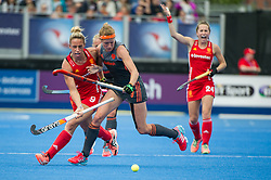 Susannah Townsend. England v The Netherlands, Lee Valley Hockey and Tennis Centre, London, England on 11 June 2017. Photo: Simon Parker
