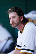 PITTSBURGH, PA - JUNE 30: Jason Grilli #39 of the Pittsburgh Pirates looks on against the Milwaukee Brewers during the game at PNC Park on June 30, 2013 in Pittsburgh, Pennsylvania. The Pirates won 2-1 in 14 innings. (Photo by Joe Robbins)  Jason Grilli