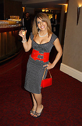 NARINDER KAUR a former Big Brother TV programme contestant at the 10th Anniversary Asian Business Awards 2006 at the London Grosvenor Hotel Park Lane, London on 19th April 2006.<br />