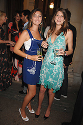 Left to right, sisters PRINCESS AUGUSTA VON PREUSSEN and PRINCESS FLORENCE VON PREUSSEN at the Quintessentially Summer Party at the Wallace Collection, Manchester Square, London on 6th June 2007.<br />