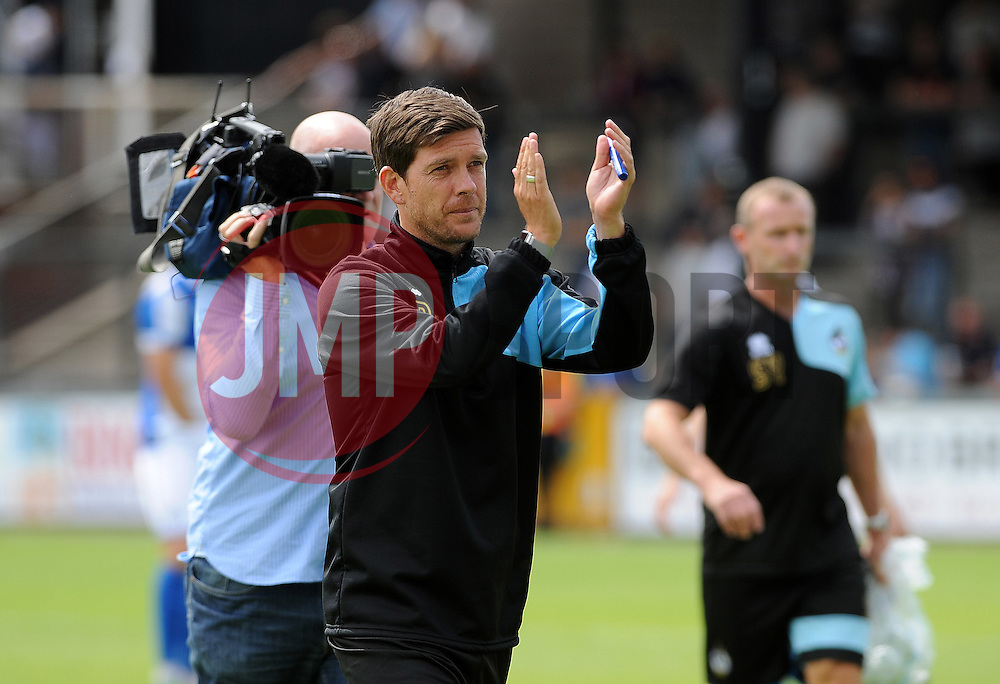 Bristol Rovers manager, Darrell Clarke - Photo mandatory by-line: Neil Brookman/JMP - Mobile: 07966 386802 - 18/07/2015 - SPORT - Football - Bristol - Memorial Stadium - Pre-Season Friendly