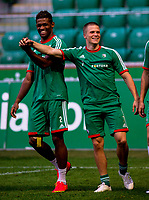 29/07/14<br /> LEGIA WARSAW TRAINING<br /> PEPSI ARENA - WARSAW<br /> Legia Warsaw ace and former Motherwell man Henrik Ojamaa (right) trains at the Pepsi Arena