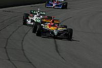 Bryan Herta, Tony Kanaan and Dario Franchitti at the Pikes Peak International Raceway, Honda Indy 225, August 21, 2005