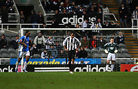 Photo: Andrew Unwin.<br /> Newcastle United v Birmingham City. The FA Cup. 17/01/2007.<br /> Newcastle look dejected as Birmingham get a second goal.