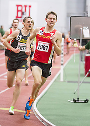 BU Valentine Invitational, mens 3000 meters, Korolev, Harvard, Geoghegan, Dartmouth