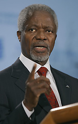 Dec. 11, 2006 - U.S. - United Nations Secretary-General Kofi Annan spoke at Truman Library in Independence, Missouri, Monday, December 11, 2006. (David Eulitt/Kansas City Star/TNS) (Credit Image: © David Eulitt/TNS/ZUMAPRESS.com)