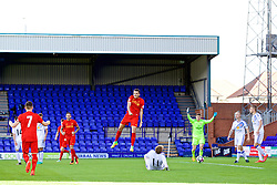 BIRKENHEAD, ENGLAND - Sunday, September 25, 2016: Liverpool's Pedro Chirivella celebrates as Danny Ings scores the second goal against Sunderland during the FA Premier League 2 Under-23 match at Prenton Park. (Pic by Concepcion Valadez/Propaganda)