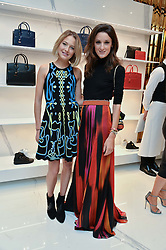 Left to right, TESS WARD and ROSANNA FALCONER at the launch of the new Giusepe Zanotti store in Conduit Street, London on 26th October 2016.