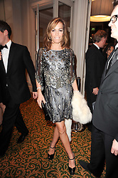 TARA PALMER-TOMKINSON at a gala dinner in celebration of 80 years since the first Foyles Literary Luncheon, held in The Ball Room, Grosvenor House Hotel, Park Lane, London on 21st October 2010.