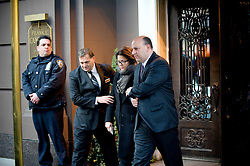 "Wed Jan 4, 2011: Woman believed to be Madonna Badger is escorted out of the Frank E. Campbell funeral home.  Credit: Rob Bennett for The Wall Street Journal***IF USED BY NBC (per terms of agreement) image must be prominently credited as: ""Courtesy The Wall Street Journal""***"