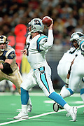 Quarterback Matt Lytle (9) of the Carolina Panthers throws a pass against the St. Louis Rams during a 48 to 14 win by the Rams on 11/11/2001..©Wesley Hitt/NFL Photos