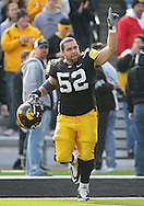 November 21, 2009: Iowa offensive lineman Rafael Eubanks (52) is introduced as part of senior day before the Iowa Hawkeyes 12-0 win over the Minnesota Golden Gophers at Kinnick Stadium in Iowa City, Iowa on November 21, 2009.