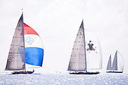 Hanuman and Velsheda, J Class, sailing in the St. Barth's Bucket Regatta, day three.
