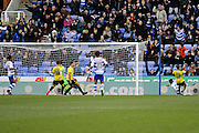 Reading's Dominic Samuel (14) scores for Reading and makes the score 1-0 to Reading during the EFL Sky Bet Championship match between Reading and Burton Albion at the Madejski Stadium, Reading, England on 19 November 2016. Photo by Richard Holmes.